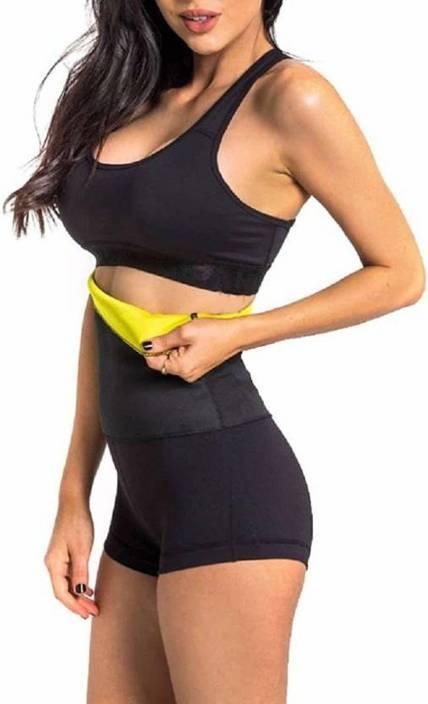 d0946fc04f4e ShopyBucket XXXL-Size Slim & Fit Sweat Belt Waist Tummy and tights Get In  Shape Fitness Belt Pant for Men Women AB Slimming Slimming Belt (Black,  Yellow)