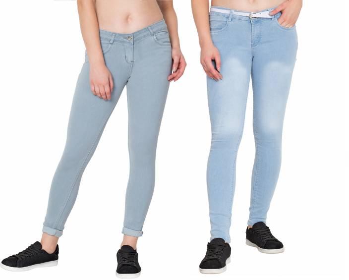 6a9bfbf87fae8 Plazma Jeans Super Skinny Women Grey Jeans - Buy Plazma Jeans Super ...