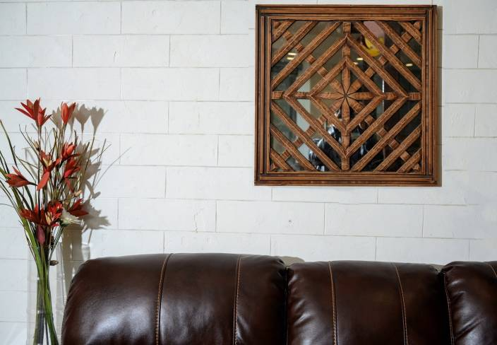 Shilpm Studio Wall Panel Mirror With Mdf Wood Finish Decorative