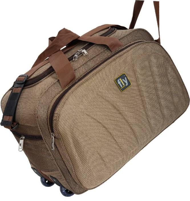 Leatherworld (Expandable) duffle bags / duffle bags with wheels / duffle trolley / duffle bags women Duffel Strolley Bag