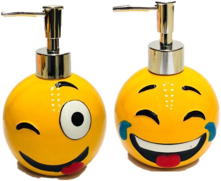 214df62ac122 Max Home Emoji/Emoticon Ceramic Handwash Soap Dispenser for Bathroom ...