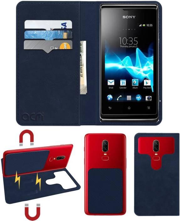 buy online 2ce97 5052f ACM Flip Cover for Sony Ericsson Xperia E Dual - ACM : Flipkart.com