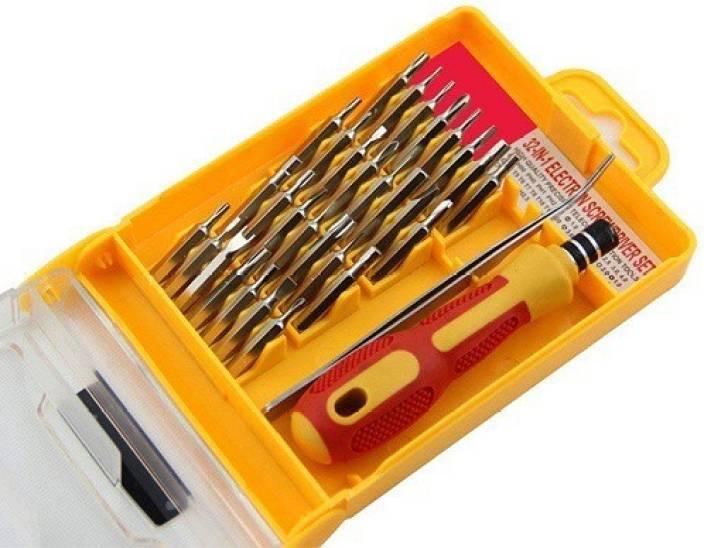 5bb6e0137 LS-LetsShop 32 IN 1 Magnetic Standard Screwdriver Set (Pack of 32)  Combination Screwdriver Set (Pack of 32)