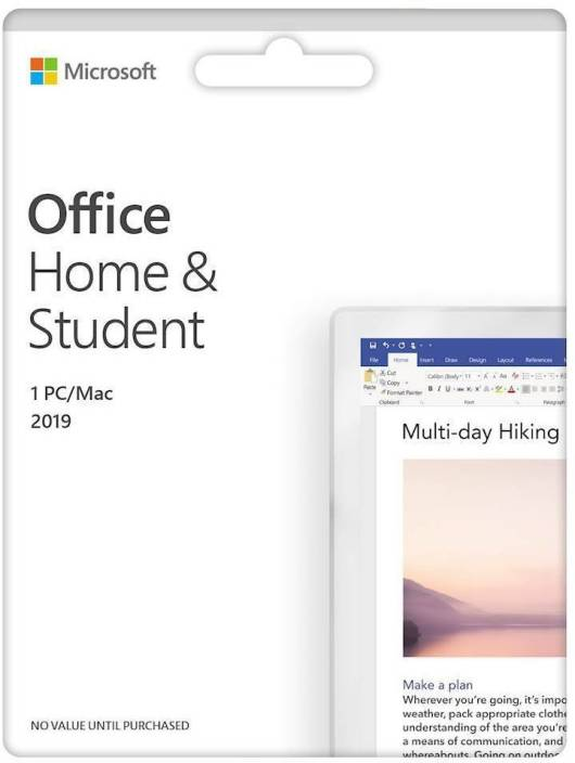 Microsoft Office Home & Student 2019 1 PC / MAC