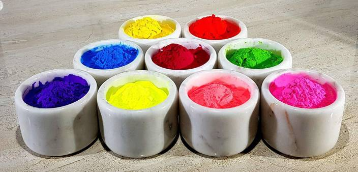 QUINERGYS ® Organic Holi Colors Gulal Holi Rangoli Color Powder Holi ...