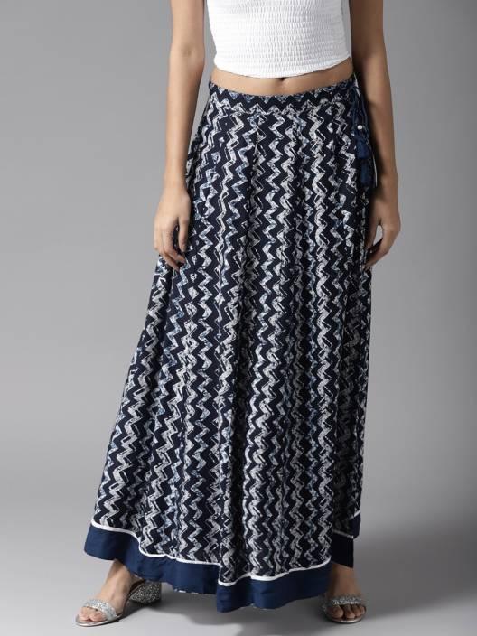 d623640b0 Moda Rapido Printed Women Flared Blue, White Skirt. ADD TO CART. BUY NOW