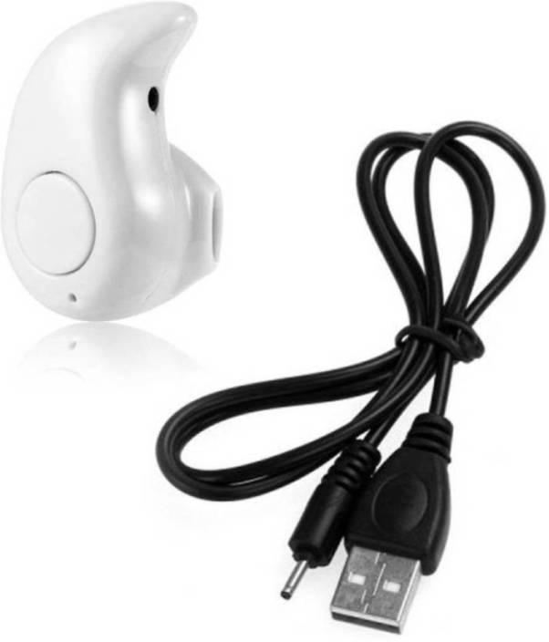 e9fadfb687d Waiitech Mini Bluetooth Wireless Kaju Style Bluetooth Headset Bluetooth  Headset with Mic (White, In the Ear)