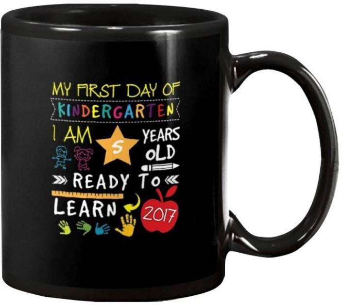 2f2618e4722 RADANYA Kids First Day Back To School Shirt Coffee Funny Tea Gift Cup  BMUG282 Ceramic Mug (350 ml)
