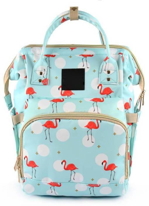 acce93c70 Way Beyond Sky Blue Flamingo Printed Waterproof Multifunctional Diaper  Travel Backpack Baby Diaper Bag (sky blue)