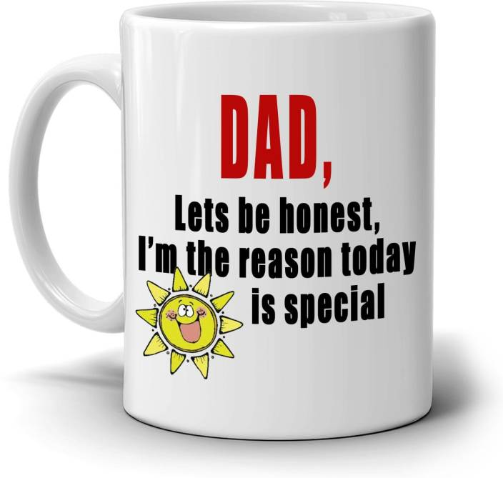 SKY DOTR Fathers Day Birthday Gift From Daughter To Papa Dad Daddy Ceramic Mug