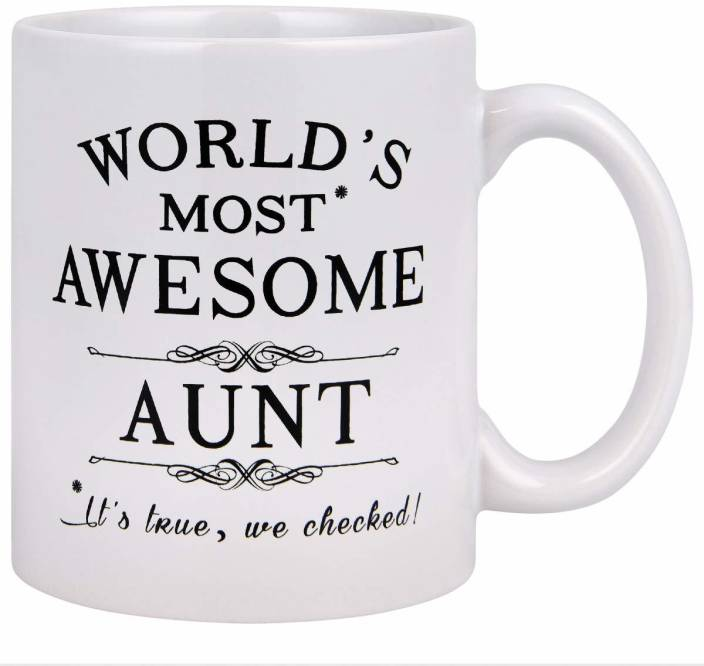 SKY DOTR Birthday Unique Gift For Aunt Cool Ideas Auntie Best Ever Coffee