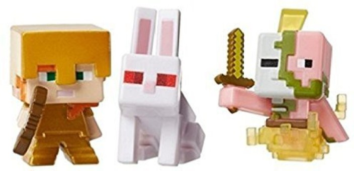 Minecraft Series 3 Zombie Pigman Action Figure Pack Toy Play Kids Game New