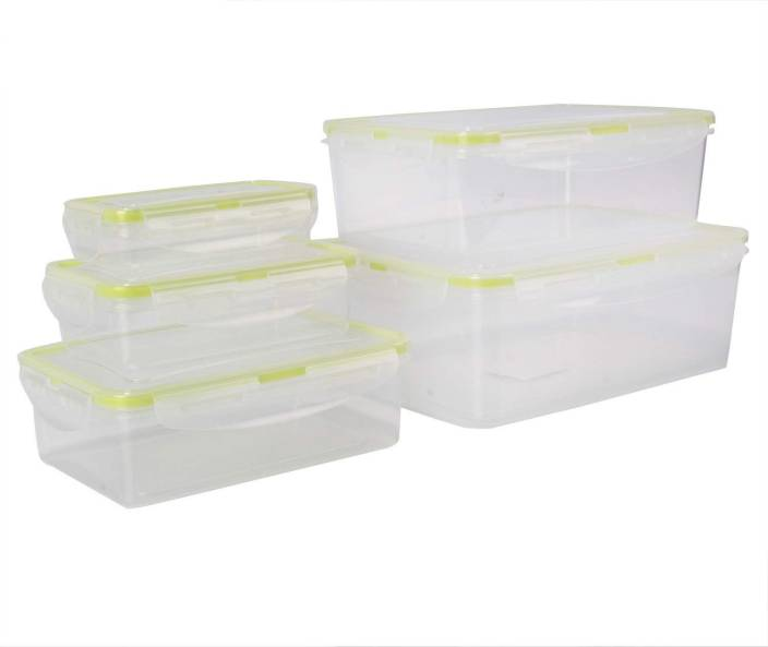 HOKIPO Airtight BPA-Free Plastic Food Storage Containers for