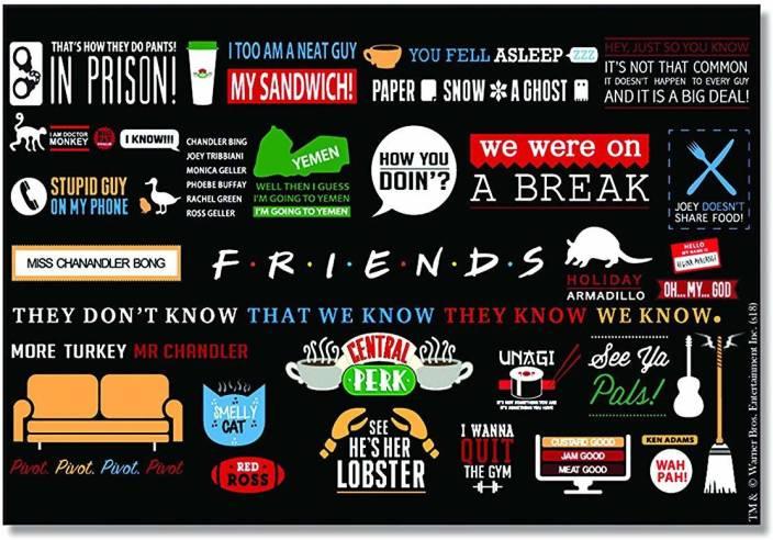Mc Sid Razz Friends - Tv Series Infographic Rectangular Fridge