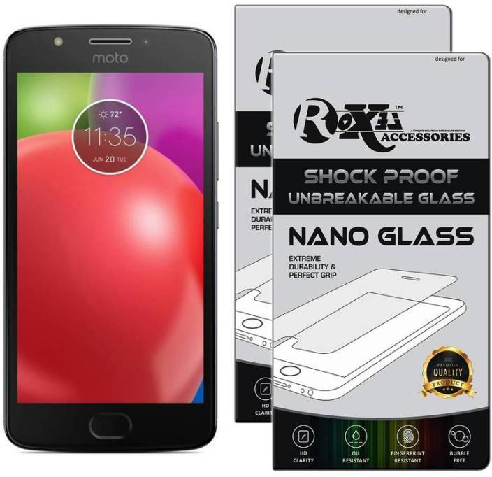 Roxel Nano Glass for Moto E 4th Gen (Iron Gray, 16 GB) (2 GB