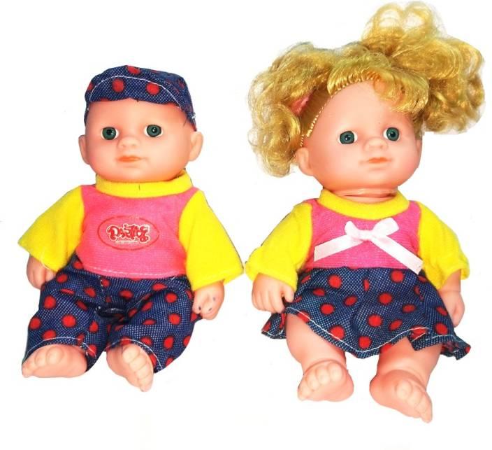 4517f119c3a9 TALKING GANESHA 2 Cute Baby Boy & Baby Girl Dolls With 3D Eyes & Cute  Dresses