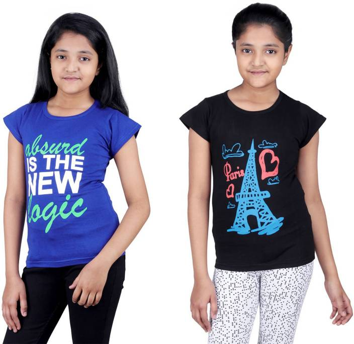 cefa5372edc Online Shopping Mall Girls Printed Cotton T Shirt Price in India - Buy ...