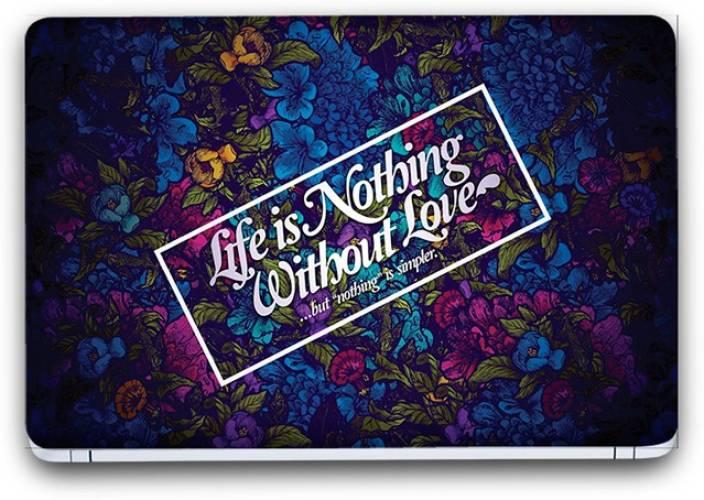 Flipkart SmartBuy Funky Themed Life Is Nothing Vinyl Laptop
