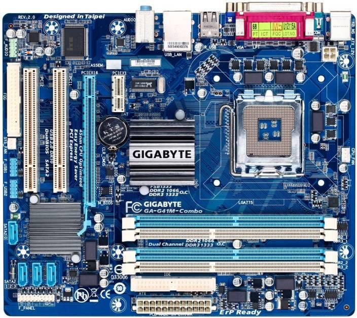 Gigabyte G41M COMBO Supported Socket 775 RAM DDR2 & DDR3 Motherboard