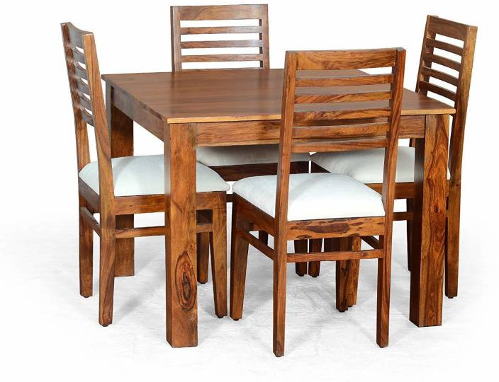 6cbb20fa382e SUNCROWN FURNITURE Sheesham Wood Furniture Dining Set with 4 Chairs for  Living Room Teak Finish Solid Wood 4 Seater Dining Set (Finish Color - Teak  Finish)