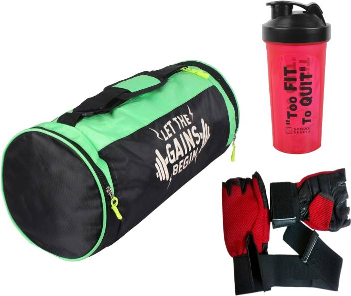 4d7d59aac4 5 O Clock Sports Combo Of Leatherite Green Gym Bag