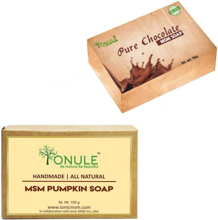 Ionule MSM Chocolate Soap Pumpkin Soap Combo of 2 - Price in
