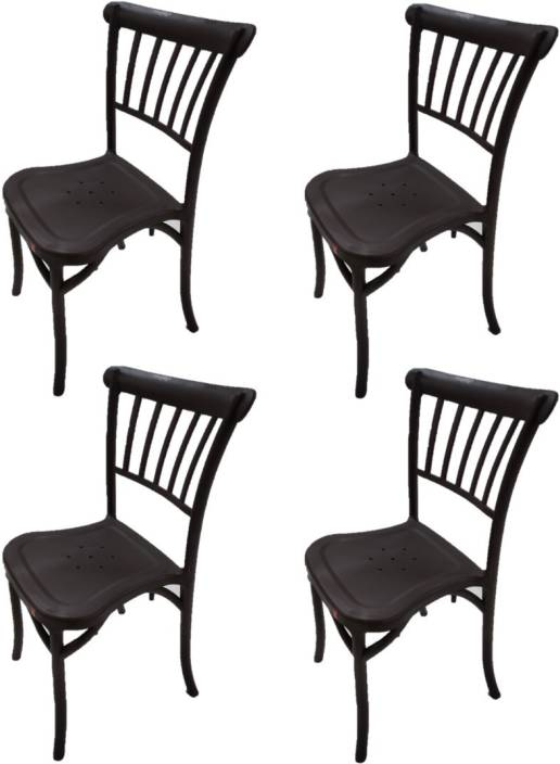 Enjoyable Cello Antilia Armless Set Of 4 Plastic Chair Brown Plastic Download Free Architecture Designs Itiscsunscenecom