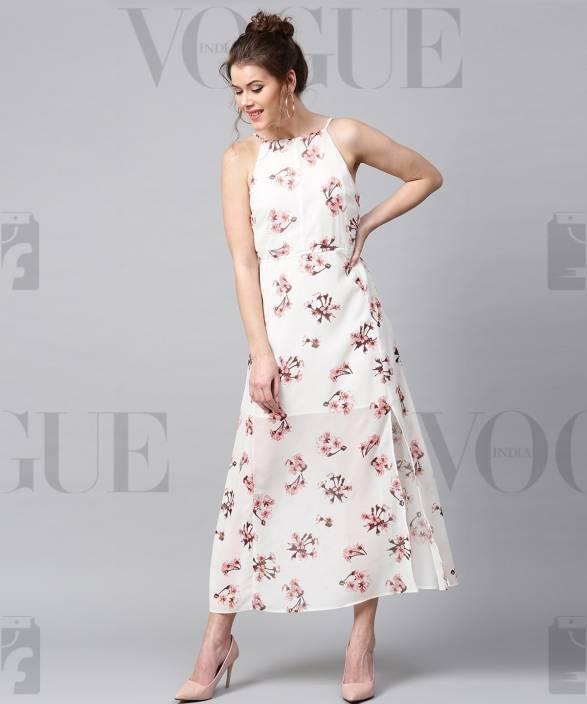 03a4d9aef33 Sassafras Women Maxi White Dress - Buy Sassafras Women Maxi White Dress  Online at Best Prices in India