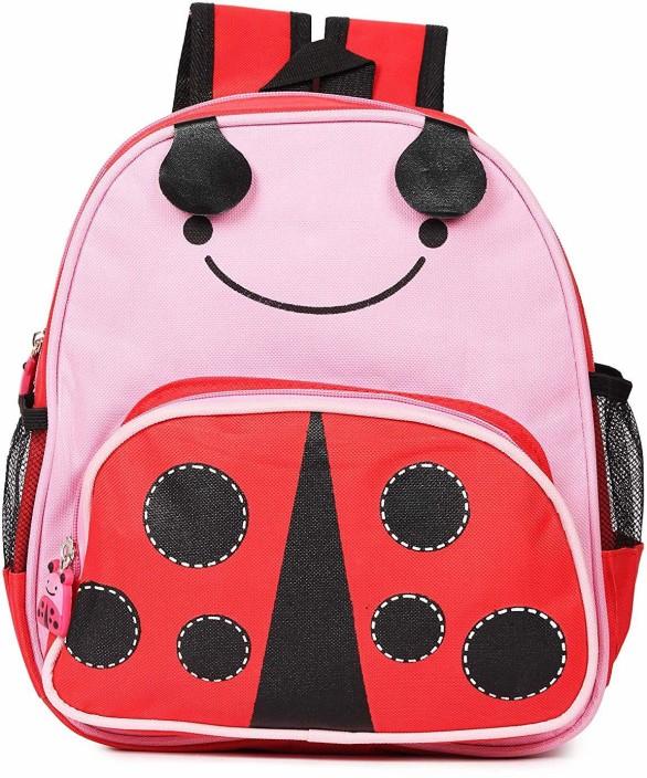 Ladybug Kids Plush PreSchool Backpack Toddlers Baby Cute School Bag