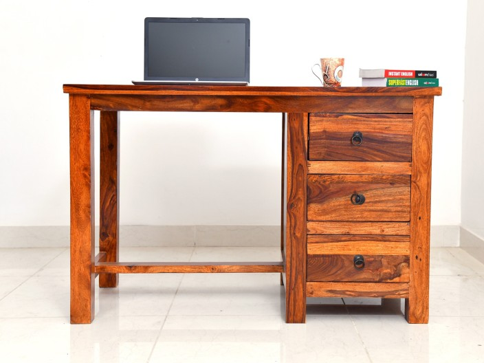 Shekhawati Decor Sheesham Wood Office Desk Study Table For Living Room | Computer  Table | With