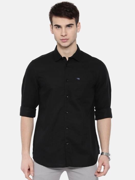 Men Solid Casual Slim Shirt