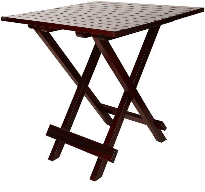 0f34ebe15f1a Allie Wood Solid Sheesham Mahogany Finish with PU Polish Folding Table  (Standard) Solid Wood 2 Seater Dining Table (Finish Color - Mahogany Finish)