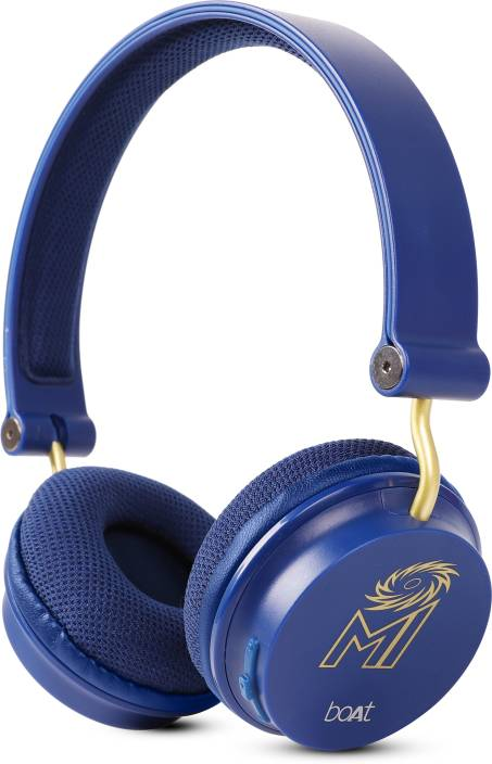511b73bde4b boAt Rockerz 400 Mumbai Indians Edition Bluetooth Headset with Mic (Blue,  On the Ear)