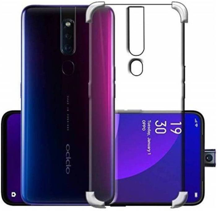 Aadya Couture Back Cover for OPPO F11 Pro (Transparent, Shock Proof, Silicon )