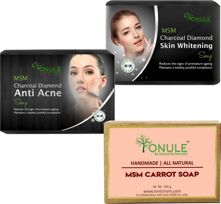 Ionule MSM Charcoal Skin Whitening, MSM Charcoal Anti Acne And