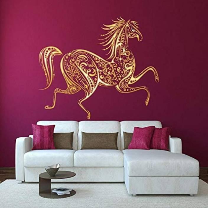 Golden Cart Large Beautiful Electrifying Horse Art I