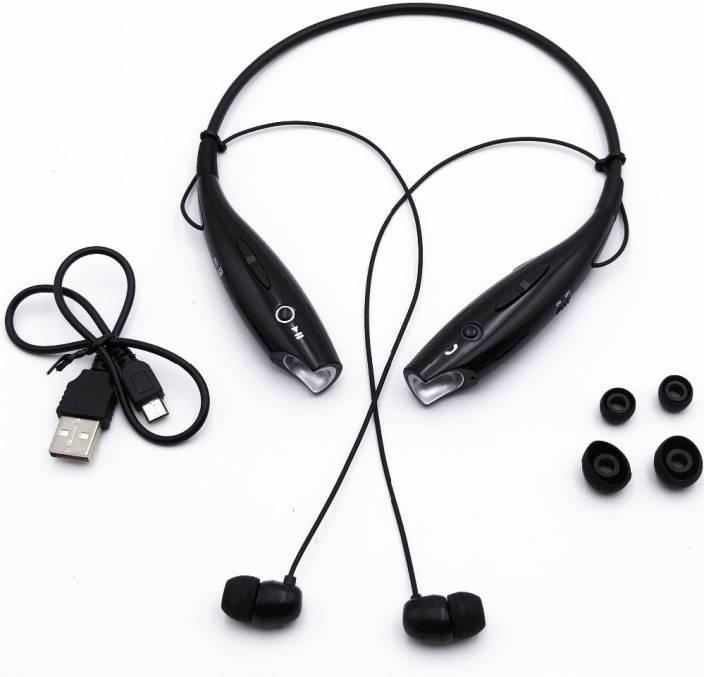 30ffefb1dec allmusic Wireless Headphone Sweatproof Sport Fit Neckband Bluetooth Headset  with Mic (Black, On the Ear)