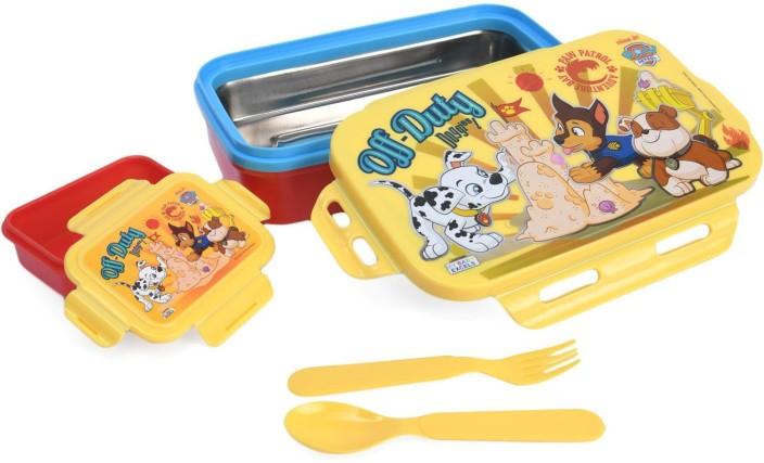 Paw Patrol Boys 2 Piece Cutlery Set /& Sandwich Box with Tray Inside