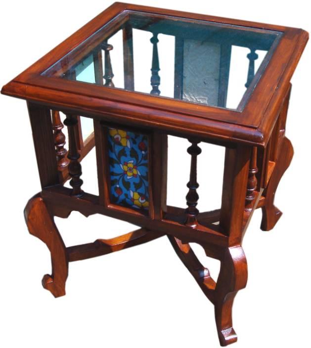 Kamoni Solid Teak Wood Small Coffee Table Side Table End