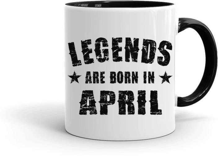 MUGKIN Legends Are Born In April Best Birthday Gift For Brother FriendInner