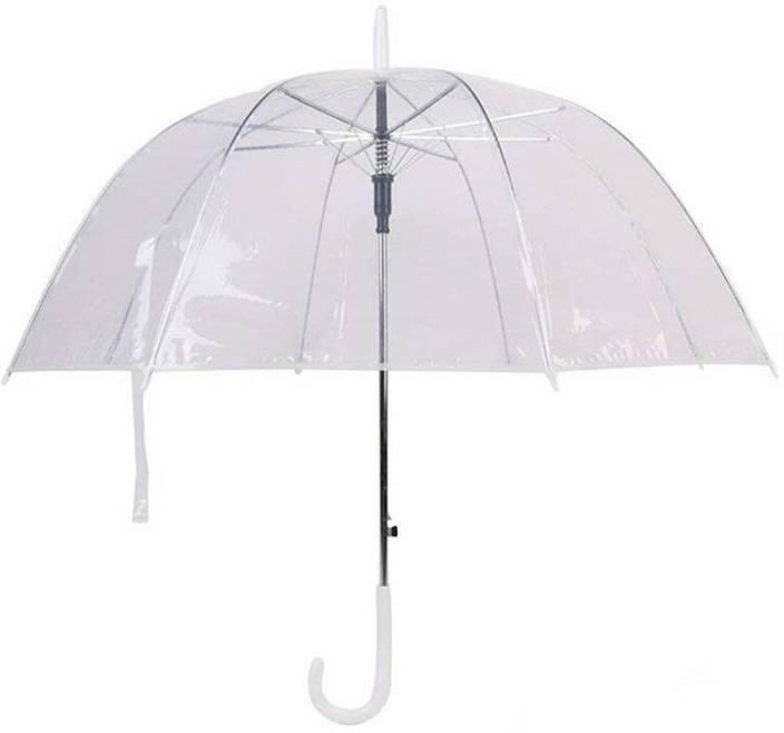 15f4ca940 M2 LOOK 1-Fold Transparent Umbrella, Water Proof | Rain, Sun & UV Rays  Protection Umbrella for Men and Women Umbrella (Transparent)