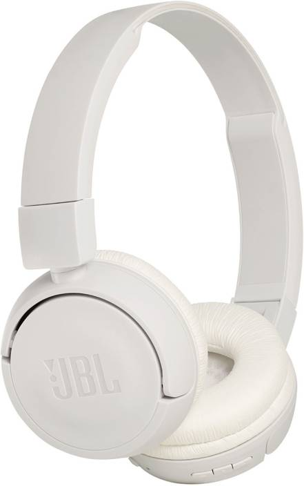 6a3b6915a6a JBL T450BT Extra Bass Bluetooth Headset with Mic (White, On the Ear)