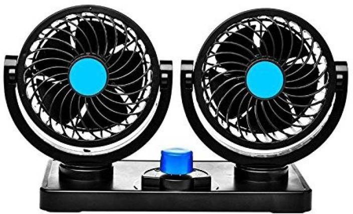 PR Car fan 12V Electric Auto Cooling Fan, Low Noise 360 Degree