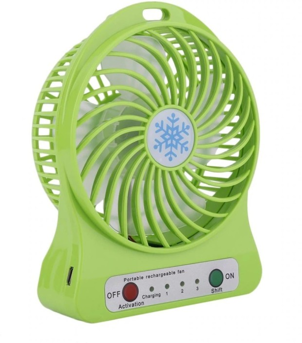 Mini Portable Hand-held Desk Fan Cooling Cooler USB Rechargeable 18650 Battery