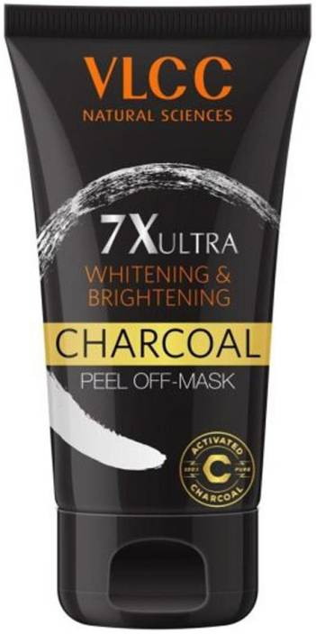 VLCC Charcoal Peel Off Mask 7X Ultra Whitening & Brightening  (100 g)