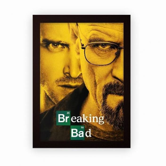 55fd34d4dc16 Breaking Bad Framed Poster For Wall Hanging or Desk (Matte Laminated ...