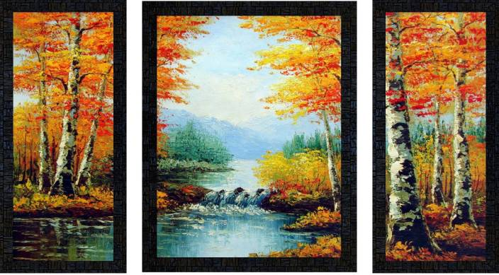 69c05a1c4 Poster N Frames Set Of 3 hand painted landscape Digital Reprint 13.5 inch x  11 inch. ADD TO CART. BUY NOW