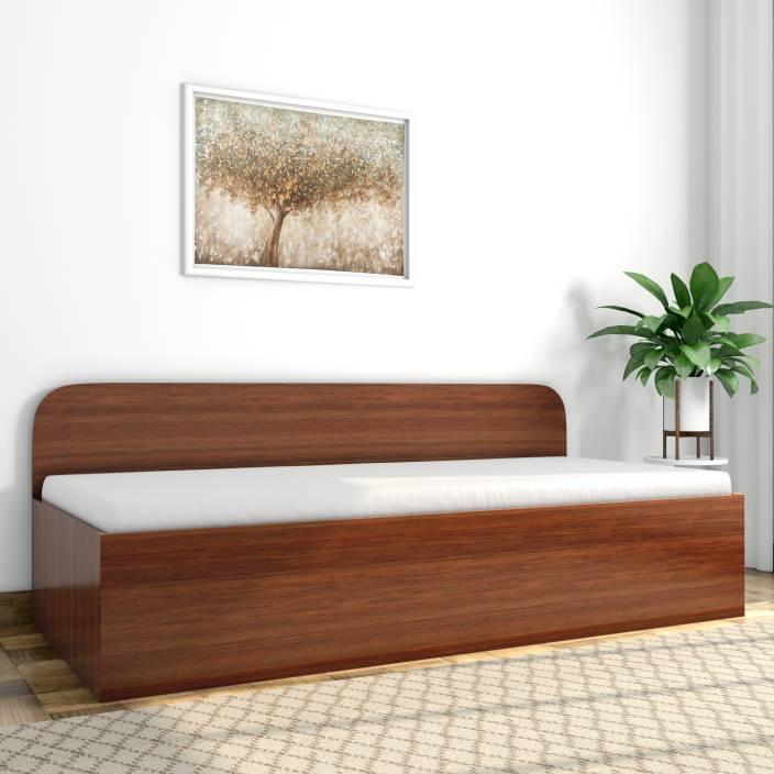 3c8773d6ef3 Godrej Interio Diwan Engineered Wood Single Box Bed (Finish Color - Walnut)