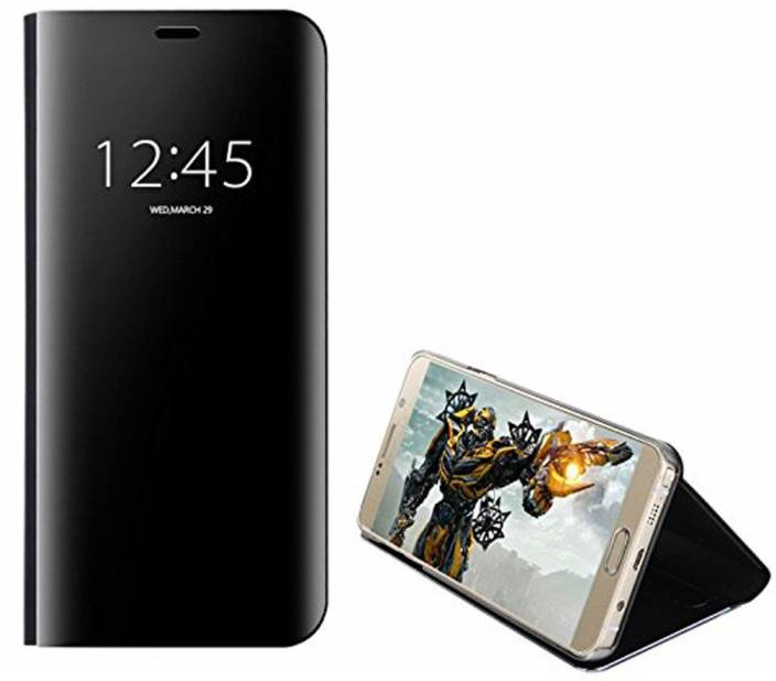 2Bro Flip Cover for Clear View Luxury Glossy Look Mirror Flip Cover