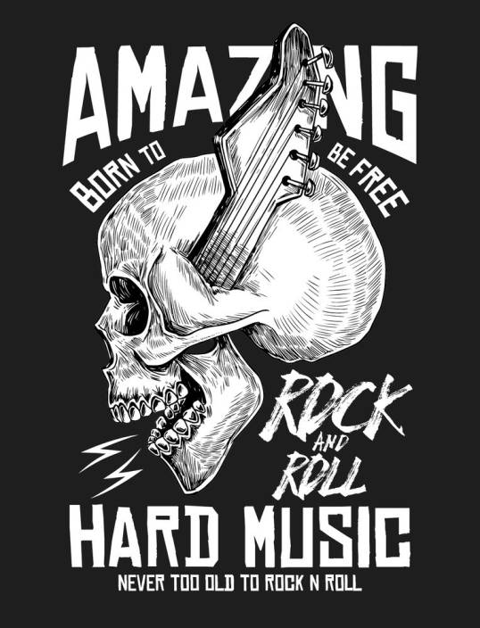 Rock And Roll Wall Poster Sticker Motivational Poster Funky